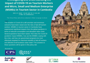 Investigating and understanding the impacts of COVID-19 on tourism workers and micro, small and medium enterprises (MSMEs) in tourism sector in Cambodia