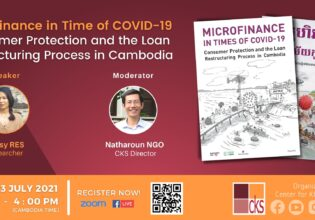 Webinar on Microfinance in Times of COVID-19: Consumer Protection and the Loan Restructuring Process in Cambodia.